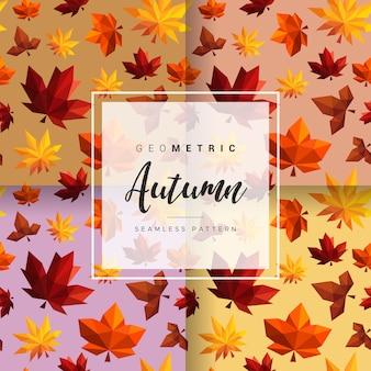 Modèle sans couture automne géométrique