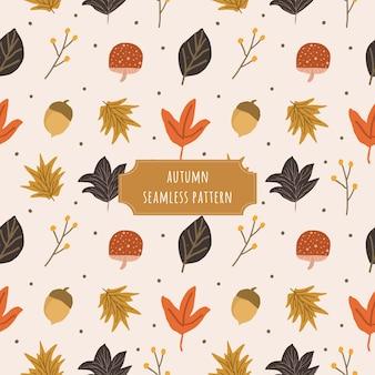 Modèle sans couture automne mignon