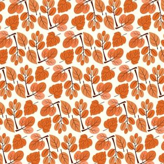 Modèle sans couture automne. motif de feuille sans soudure. fond de feuille.