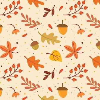 Modèle sans couture d'automne