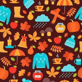 Modèle sans couture d'automne.