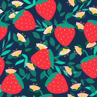 Modèle sans couture aux fraises