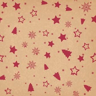 Modèle sans couture avec des ornements de Noël