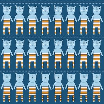 Modèle sans couture avec des ours, format vectoriel