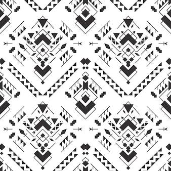 Modèle sans couture aztèque géométrique abstrait