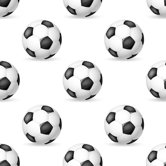 Modèle sans couture de ballon de football classique. fond de balles en cuir de football