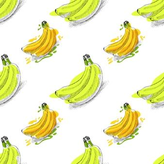 Modèle sans couture de bananes