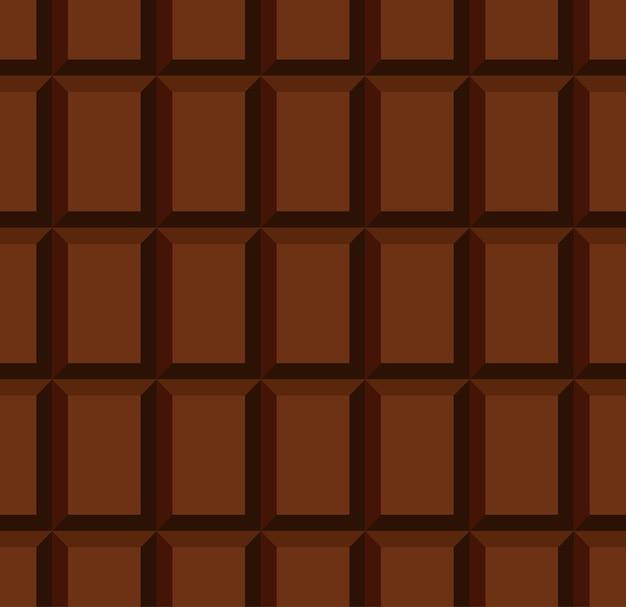 Modèle sans couture de barre de chocolat au lait non emballé avec des rangées de blocs individuels