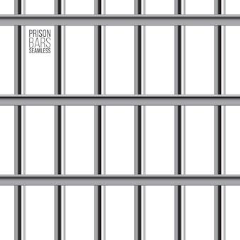 Modèle sans couture de barre de prison croisée.