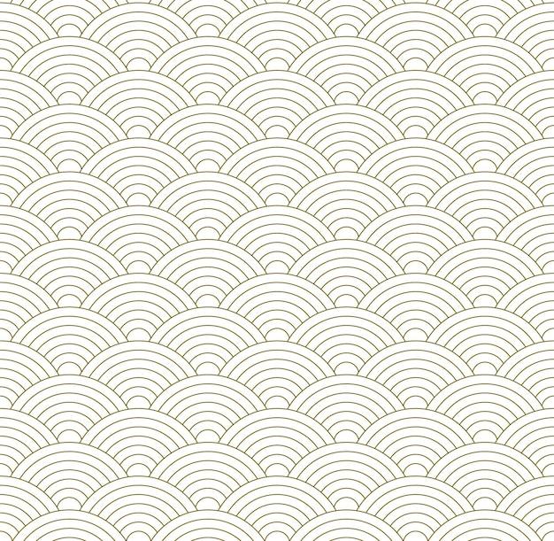 Modèle sans couture basé sur le modèle de vague japonais traditionnel
