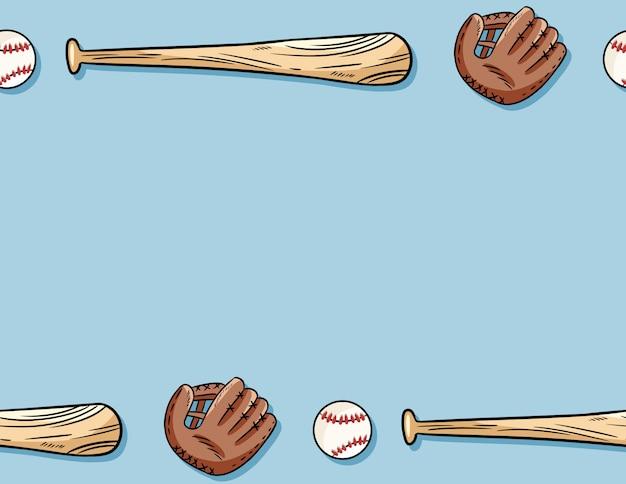 Modèle sans couture de baseball.