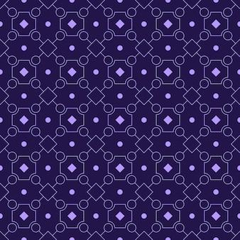 Modèle sans couture de batik géométrique moderne