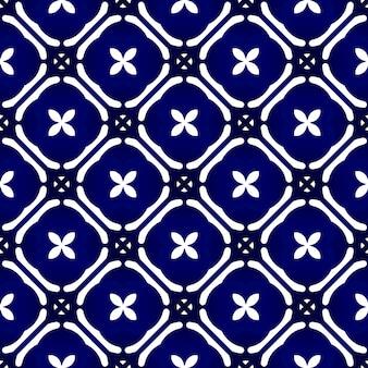 Modèle sans couture de batik indigo