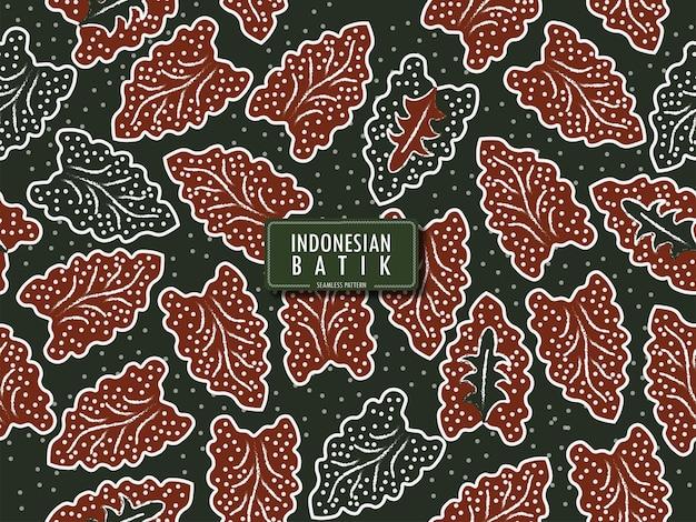 Modèle sans couture de batik indonésien sumbit batik de banten ouest java indonésie