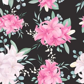 Modèle sans couture avec beau floral