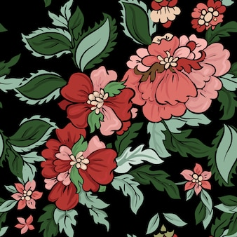 Modèle sans couture beau vecteur floral.