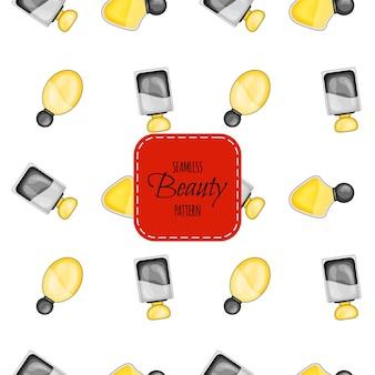 Modèle sans couture de beauté avec parfum. style de bande dessinée. illustration vectorielle.
