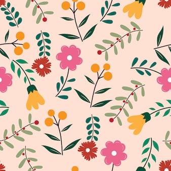 Modèle sans couture de belle fleur