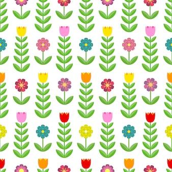 Modèle sans couture de belles tulipes