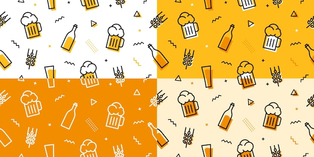 Modèle sans couture de bière