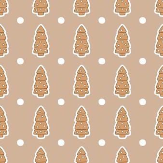 Modèle sans couture avec des biscuits au gingembre.