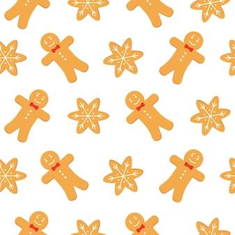 Modèle sans couture de biscuits de pain d'épice