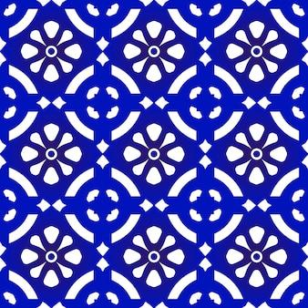Modèle sans couture bleu et blanc