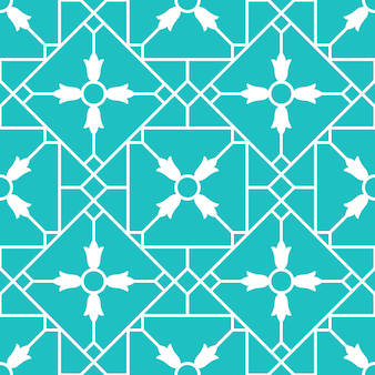 Modèle sans couture bleu carreau de céramique ornemental arabe