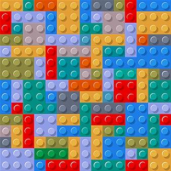 Modèle sans couture de blocs de construction en plastique