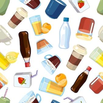 Modèle sans couture de boissons boissons non alcoolisées