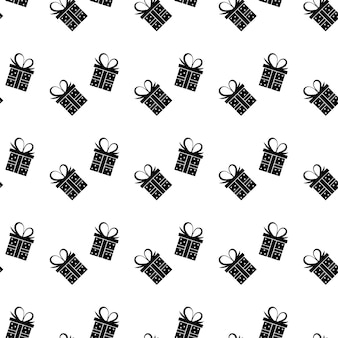 Modèle sans couture de boîte-cadeau. illustration vectorielle