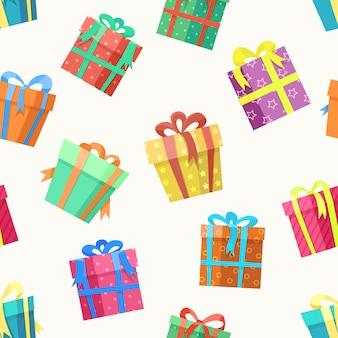 Modèle sans couture de boîte cadeau