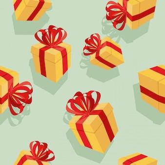 Modèle sans couture de boîtes à cadeaux pour les vacances: anniversaires, noël