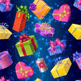 Modèle sans couture de boîtes-cadeaux
