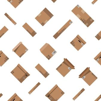 Modèle sans couture de boîtes en carton