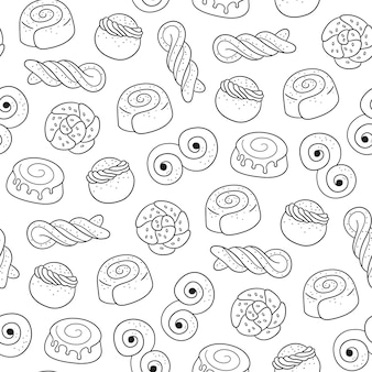 Modèle sans couture de bonbons traditionnels suédois.