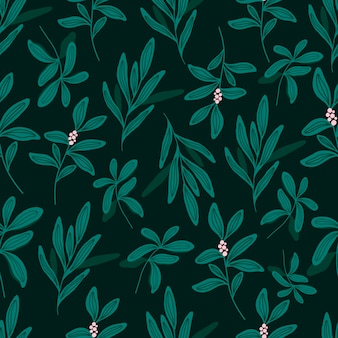 Modèle sans couture botanique avec des feuilles vertes. fonds d'écran de feuilles et de fleurs. fond de fleurs.