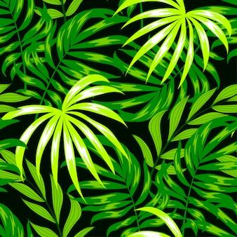 Modèle sans couture botanique avec des feuilles