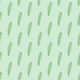 Modèle sans couture botanique avec ornement de feuilles tropicales vert clair. fond bleu pastel. style simple.