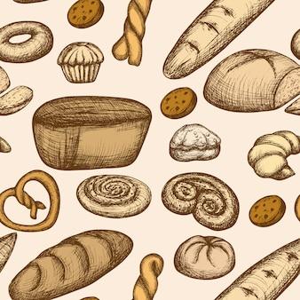 Modèle sans couture boulangerie