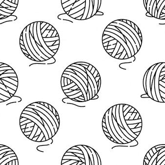 Modèle sans couture de boule de fil
