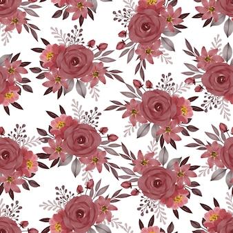 Modèle sans couture de bouquet de roses rouges pour la conception de tissu et d'arrière-plan