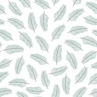 Modèle sans couture de branches d'arbres de noël.