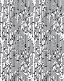 Modèle sans couture avec des branches de bambou