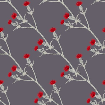 Modèle sans couture avec des branches de bardane