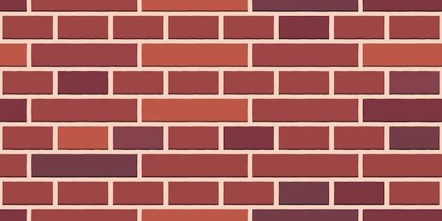 Modèle sans couture de briques de briques de briques rouge-brun