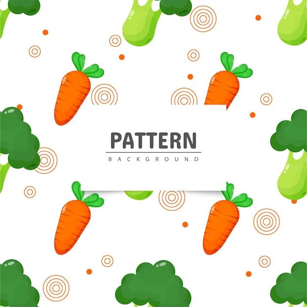 Modèle sans couture de brocoli et carotte