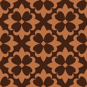 Modèle sans couture brun français céramique ornementale