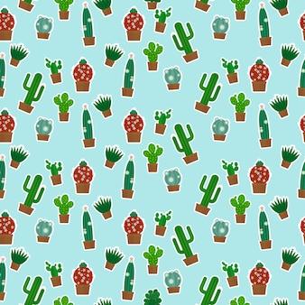 Modèle sans couture de cactus