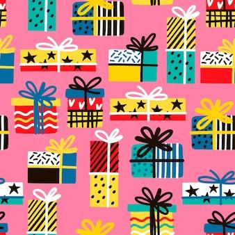 Modèle sans couture avec des cadeaux